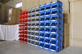 Pp Small Container Auto Parts Storage Bins Stackable Bins