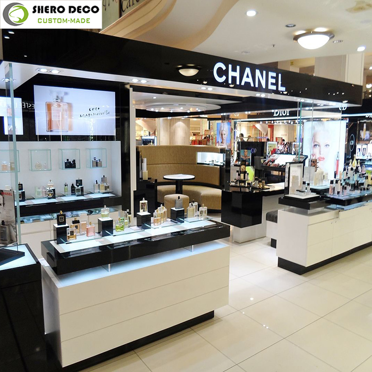 Professional customized makeup displays furniture for cosmetic store