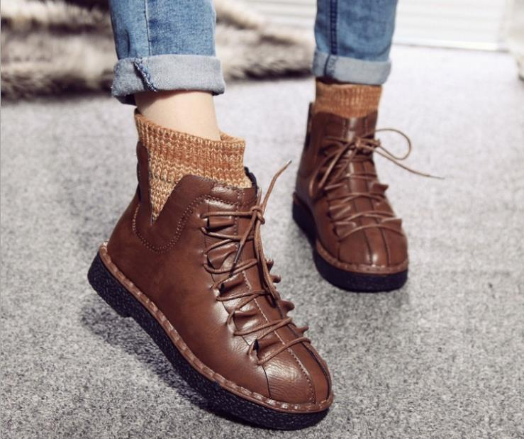 Snow Boots Cute Style New Fashion Warm Fur Winter Short