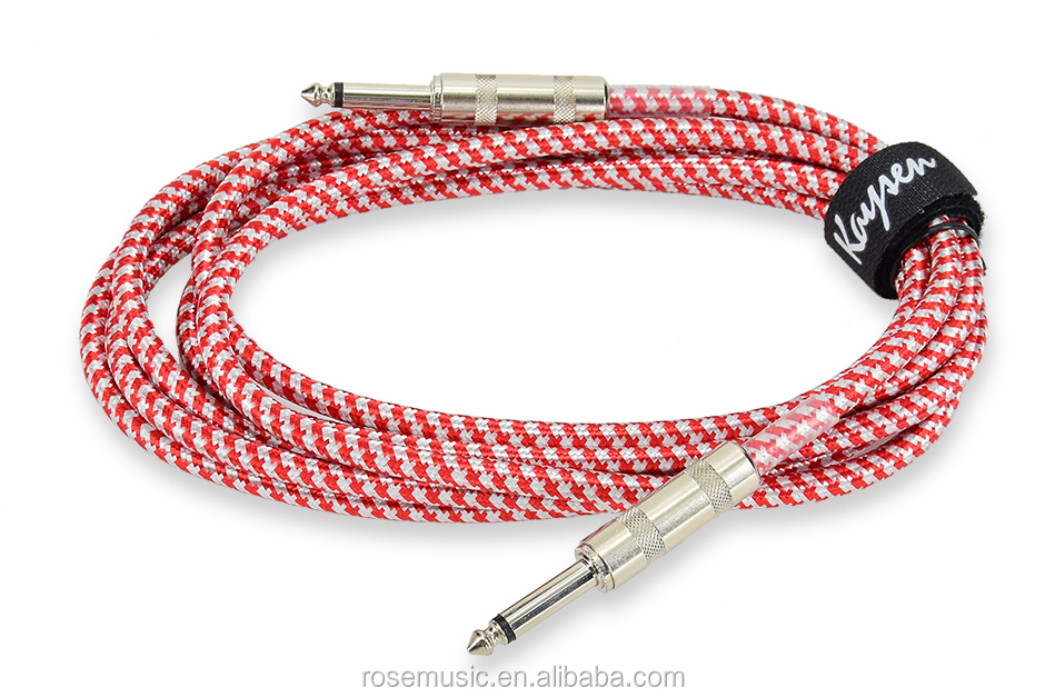 OEM woven 6.3mm jack wholesale Guitar accessories instruments long high end guitar cable