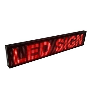 Outdoor Red Color LED Scrolling Sign, P10 LED Moving Sign, Text LED Display