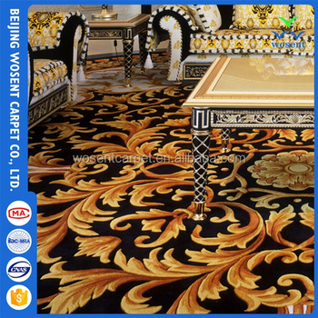 wall to wall hotel floor decoration commercial cut pattern carpet