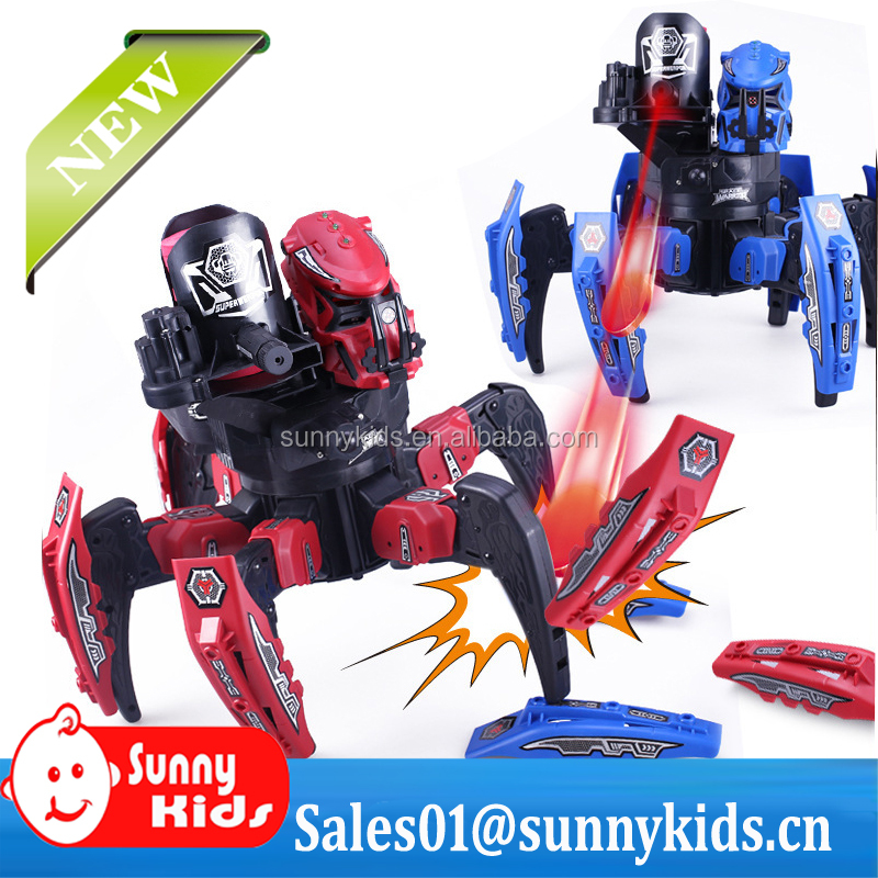 Space Warrior DIY 2.4G RC Space Warriors spider fight robot StarCraft 2 shooting bullets with armor and infrared