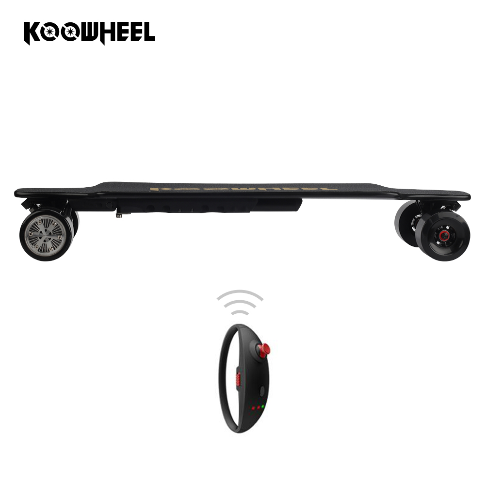 Faster Speed 43km/h Kooboard Koowheel D3M 2nd Generation Electric Longboard Boosted Electric Skateboard With Replacement Wheel, Black;red;blue;green;orange;white