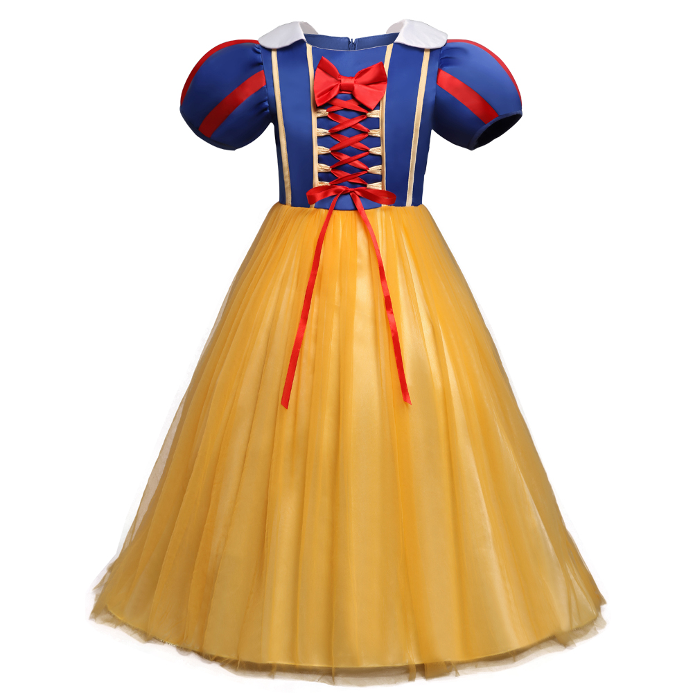4efeccc930ab Princess Infant Snow White Dress Cosplay Costume Baby Girl 1 Year Birthday  Dress Carnival Party Toddler Girl Tulle Fancy Dresses