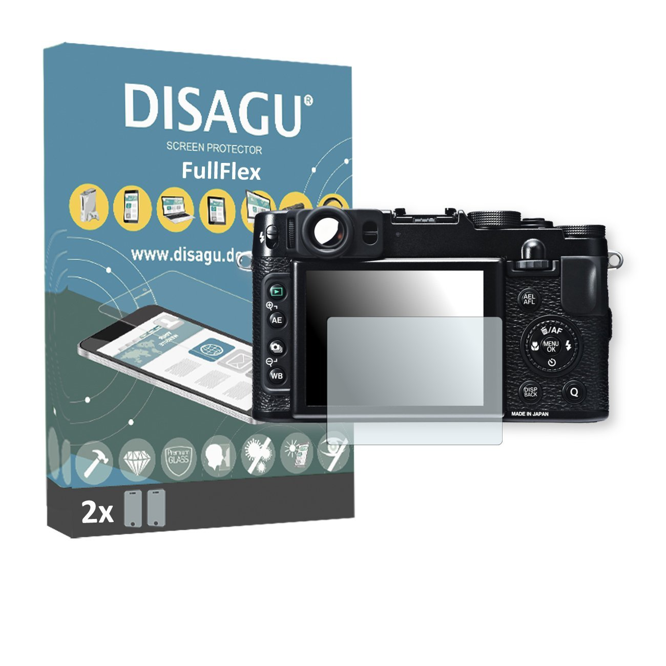 2 x Disagu FullFlex screen protector for Fujifilm X20 foil screen protector