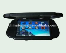 2012 Newest Win CE 5.0 Flip Open 7'' Clip on Bluetooth Touch Screen Rearview Mirror GPS Navigator