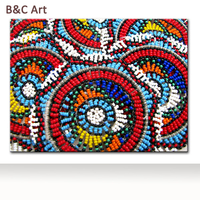 Unique beautiful colorful beads diamond painting on print canvas