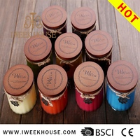 Wholesale candle scents wooden candle lids