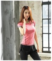Wholesale Women Short sleeve Gym Top Lady Fitness Running Clothes Polyester High quality Sportswear