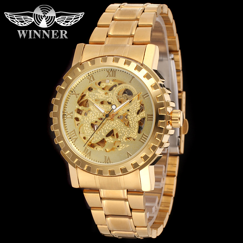 2018 Alibaba China Luxury Design Gold Watch Men New Skeleton Automatic Wholesale Import Wrist Watches