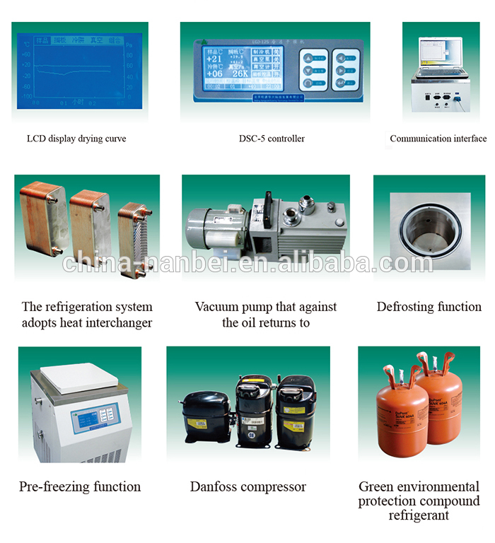 Automatic lab apparatus vacuum freeze dryer for laboratory