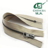 gun metal or black nickel metal zipper
