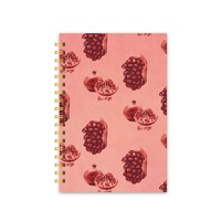 Hot Sell Kawaii Spiral Bound Pink Notebook With Custom Printing Pages