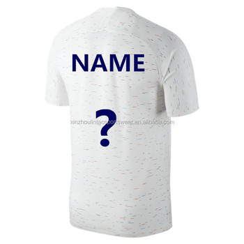new product 7ca00 0396e Thailand Quality Pogba Kante Football Shirt Uniform 2018 Customized White  France Soccer Jersey - Buy France Soccer Jersey,France Football  Shirt,France ...