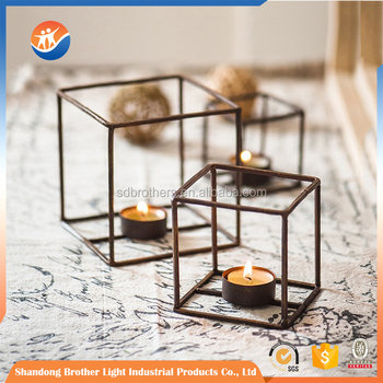 Home Items Black Metal Frame Tall Floor Standing Candle Holder Buy