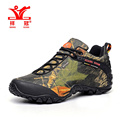 2016 New Outdoor Fun Sports Mountain Trekking Shoes Hunting botas de mujer Camouflage Leather Waterproof Hiking