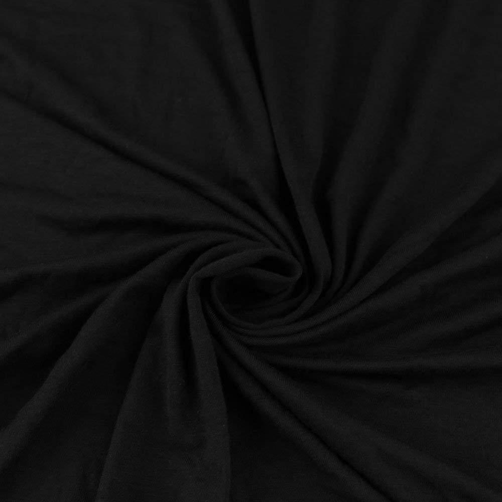 BLACK Knit Fabric, Rayon Jersey Knit Fabric, Causal Jersey Knit Fabric, Knitting Fabric by the Yard - 1 YARD