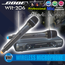 Free Shipping ! Professional WR-206 Handheld Dynamic VHF Wireless Microphone System Mic Mike For Karaoke KTV Stage DJ Conference