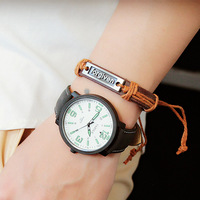319 Hot Selling Big Dial Unique Design Waterproof Luminous Leather Strap Watch Watches Men Factory Price China Suppliers