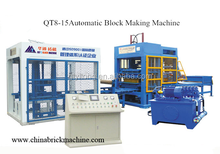 QT8-15 Automatic Brick Making Machine/Hydraulic Pressure Hollow Brick Paving Block Making Machine