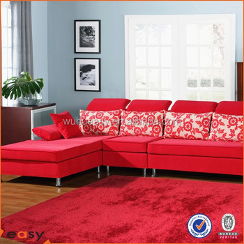 Large Red Living Room Carpet Luxury Shaggy Rug For Bedroom Decoration