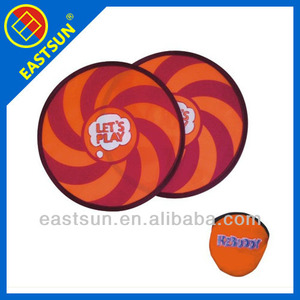Hot sell pop up foldable nylon frisbee sports frisbee