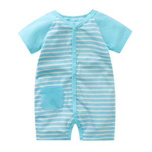 Newborn Baby Mini Kids Baby Clothes China Striped Shirt Baby Rompers One Year