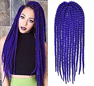 Buy Royal Blue Color Crochet Braid Hair Extensions Hair Braids