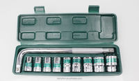 Berrylion CR-V Steel Socket Set 10pcs L type wrench and socket set