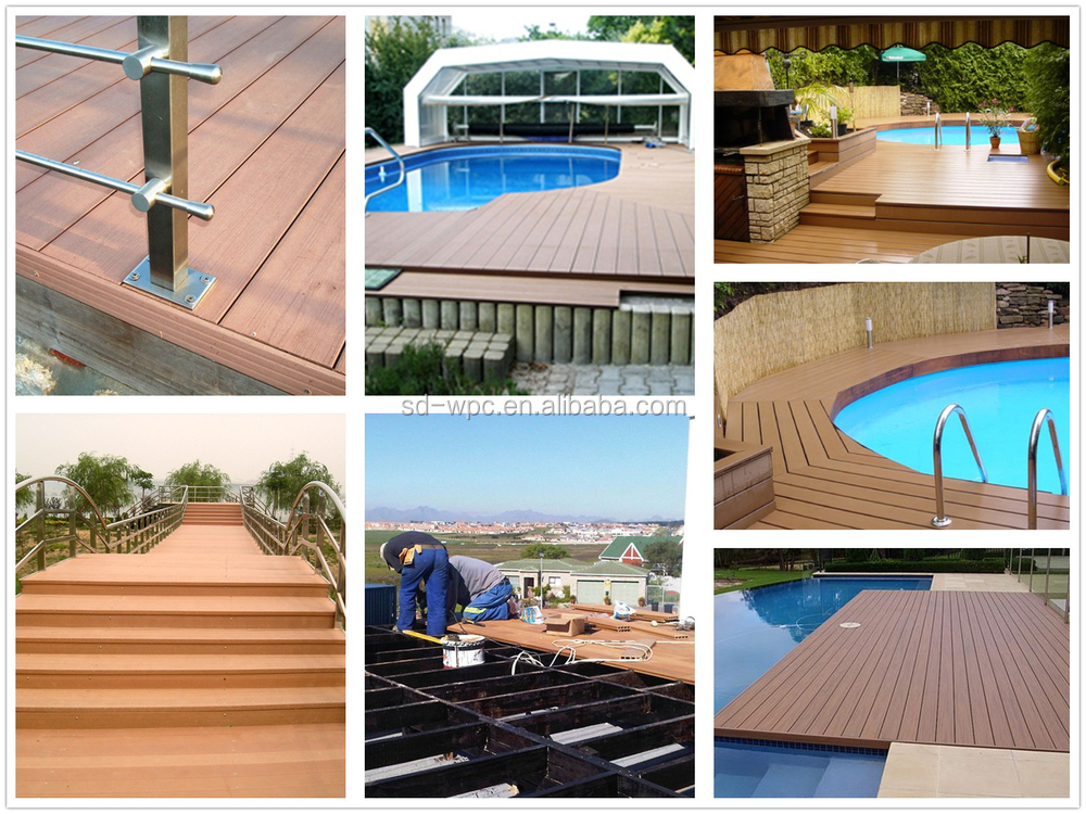 Factory sale wpc lowes outdoor deck tiles buy lowes for Garden decking for sale