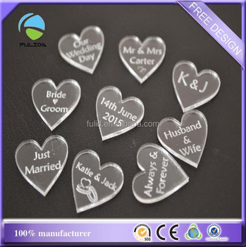 Custom Heart Shape Laser Engraved Thick Clear Acrylic Wedding Charms Tag  Keyring - Buy Heart Acrylic Engraved Charms,Engraved Acrylic Heart Tag