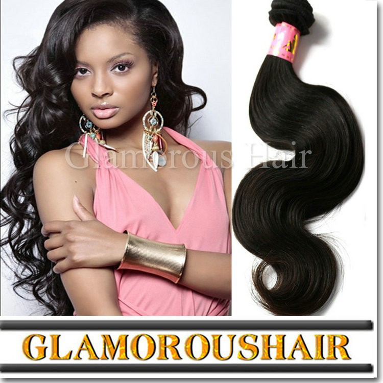 Double weft silky body wave 7a Grade virgin remy peruvian hair, human hair weaving
