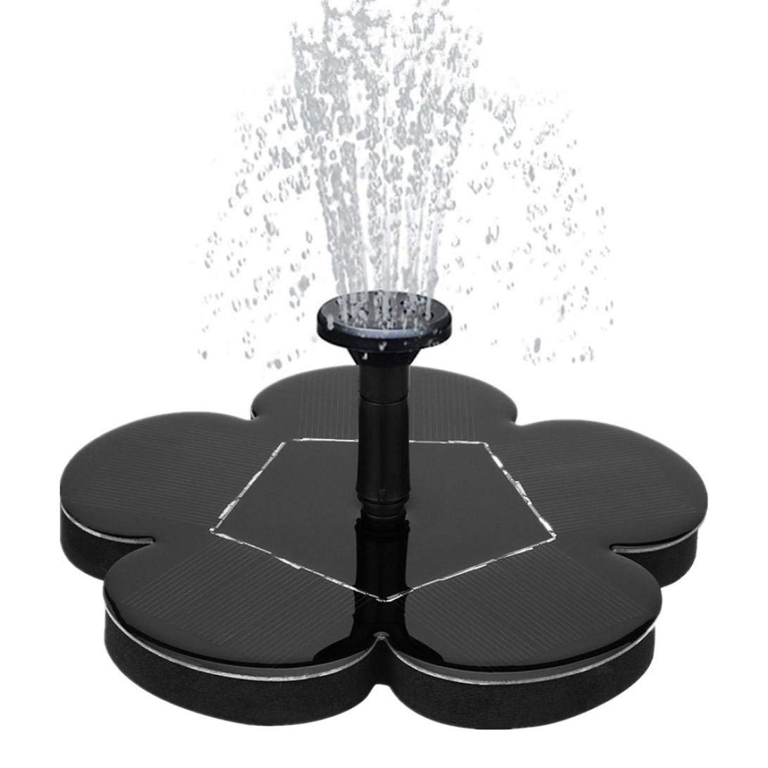 Mintu Solar Bird Bath Fountain Pump, Free Standing Solar Fountain Water Pumps Panel Kit Outdoor Birdbath Watering Submersible Pump Fish Tank Decoration for Garden and Patio