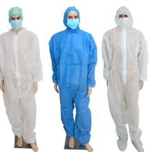 Disposable protective non-woven PP SMS factory disposable coverall with hood