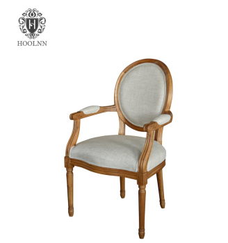 P2201 Vintage French Round Back Upholstered White Wooden Armchair Armrest Dining Chair  sc 1 st  Alibaba & P2201 Vintage French Round Back Upholstered White Wooden Armchair ...