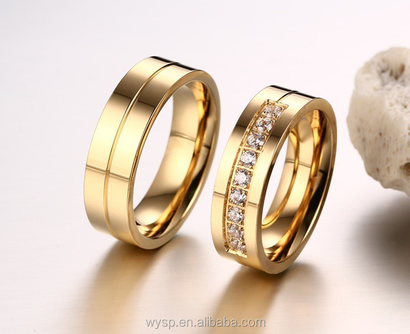 Fashion Dubai 18k Gold Rings For Men Saudi Wedding Jewelry Whole