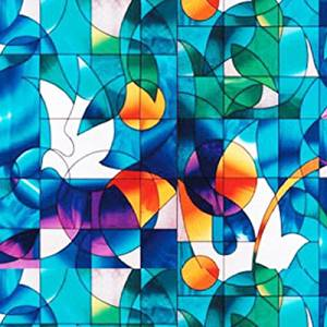 """Dove Stained Glass Decorative Window Film 36"""" Wide x 10 Ft. Long"""