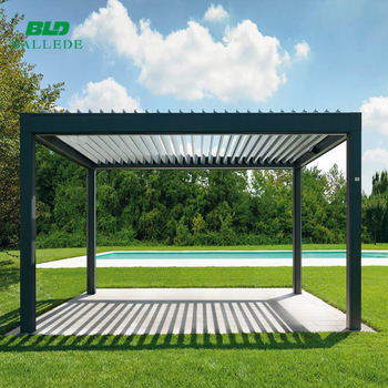 Outdoor Waterproof Aluminum Louver Pergola Gazebo 4x5