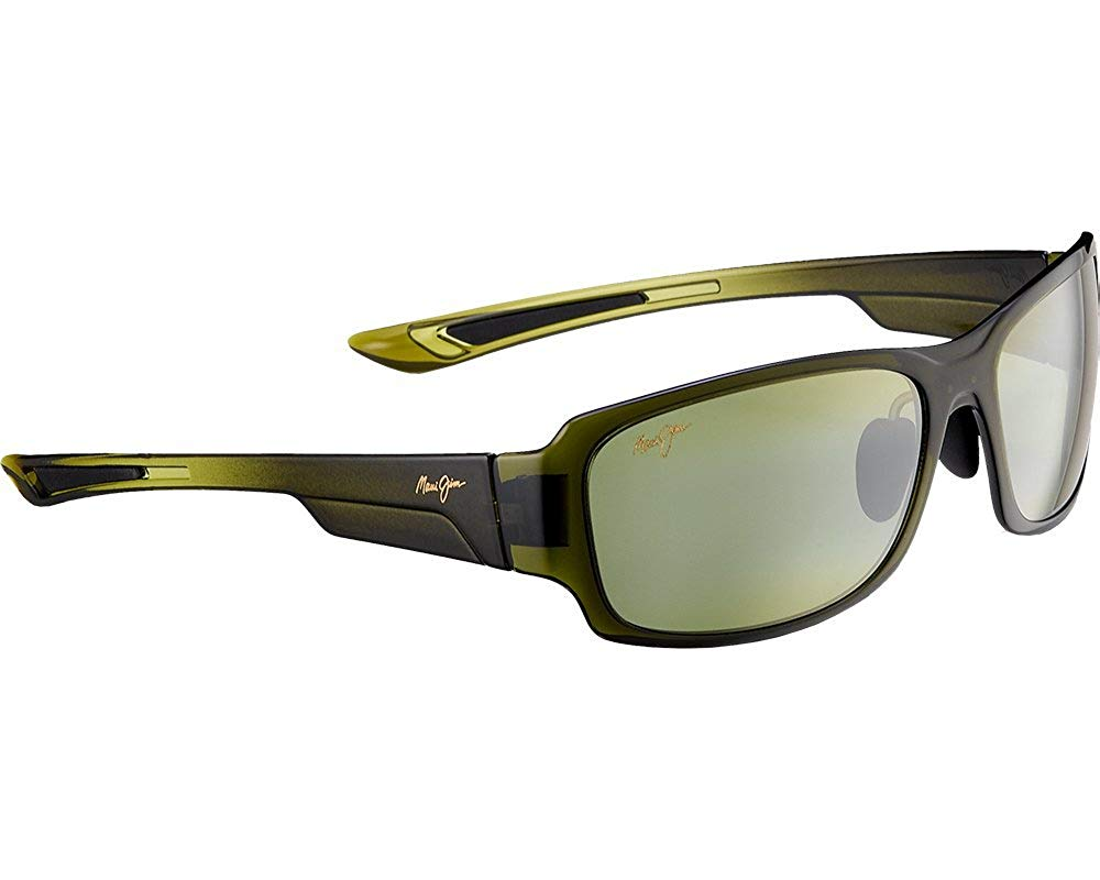 34f3143b4d Get Quotations · Maui Jim Bamboo Forest HT415-15F Olive Fade Maui HT  Polarized 60mm Sunglasses