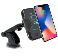 2019 Infrared Sensing Holder Fast Wireless Charger for iPhone X Xs Max Xr 8 8plus Qi Wireless Car Charger for Samsung S10 S9