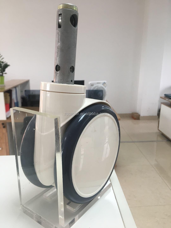De servicio pesado 150mm 6 pulgadas ruedas de la pu de buena calidad silla de ruedas de la rueda de plástico sólido de color para