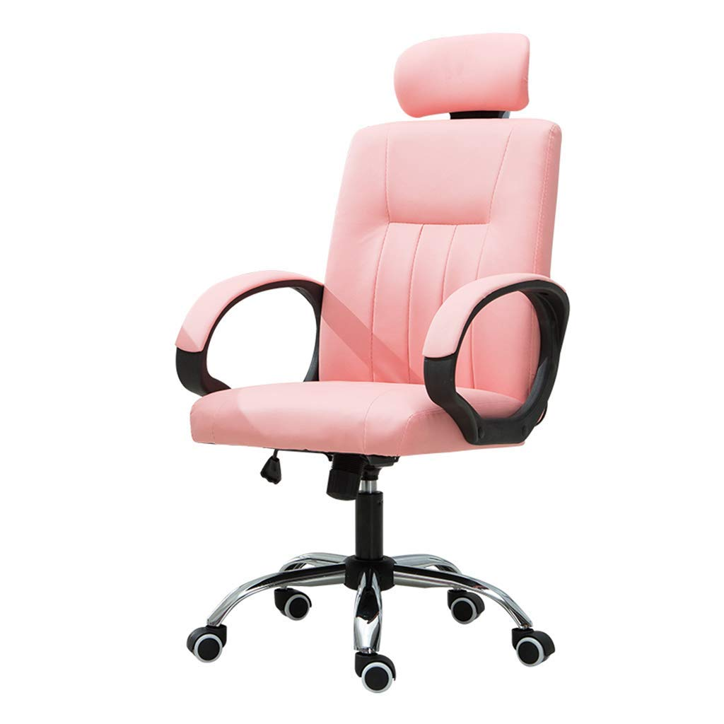 Desk Chairs Home Computer Chair Girl Special Chair Female Staff Office Chair Living Room Bedroom Chair Conference Chair Study (Color : Pink, Size : 51cm51cm125cm)