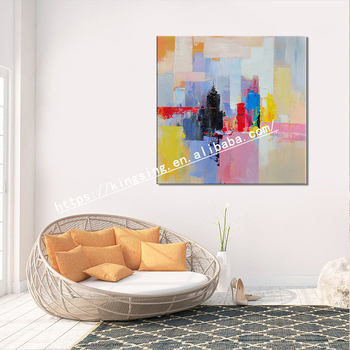 Handmade Modern Abstract Large Contemporary Art Acrylic Canvas