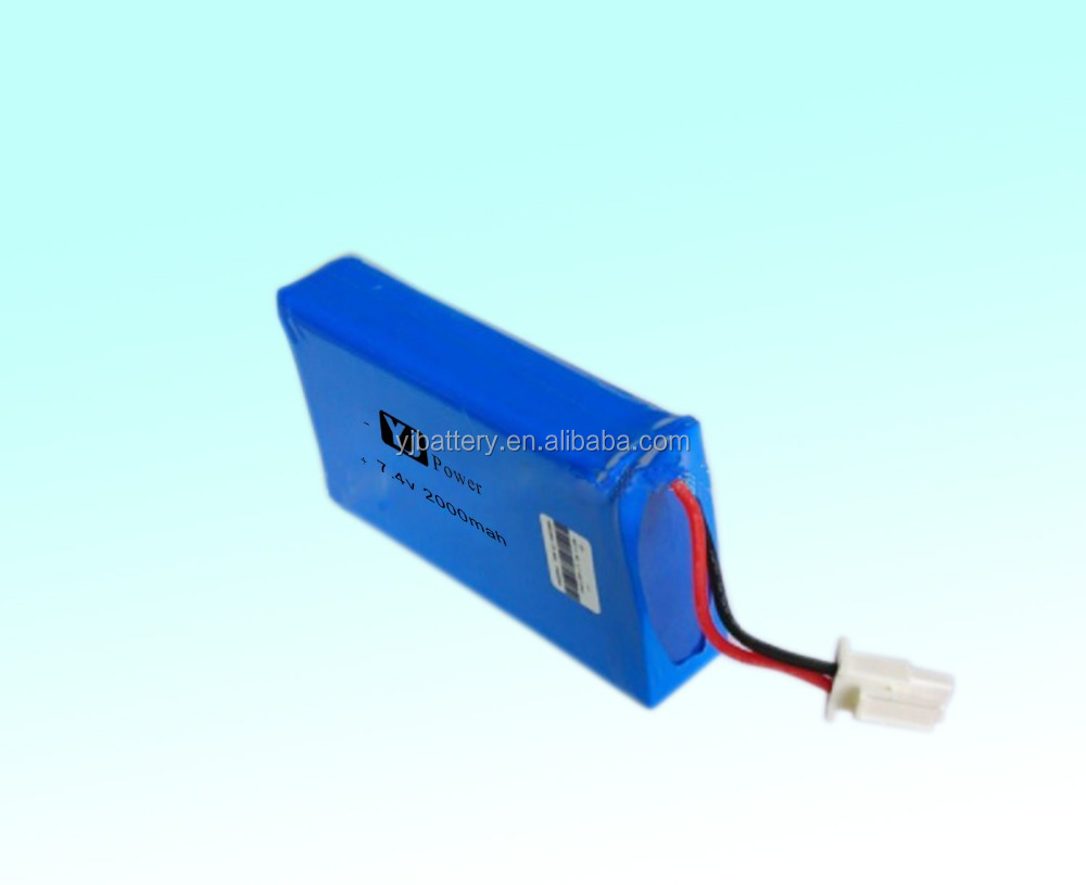 18650 Battery Manufacturer of 2016 newest products 7.4v 1500mah 1800mah li-ion polymer battery
