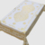 Pressed blossom Plastic Tablecloth Gold Silver  Champagne Wedding Tablecloth