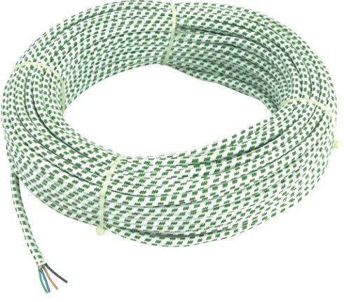 rubber/pvc 10mm braided flexible electric cable <strong>wire</strong>
