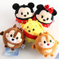5 pcs Tsum Tsum mini plush pendant lot Minnie and Mickey mouse Winnie Chipmunks figures dolls