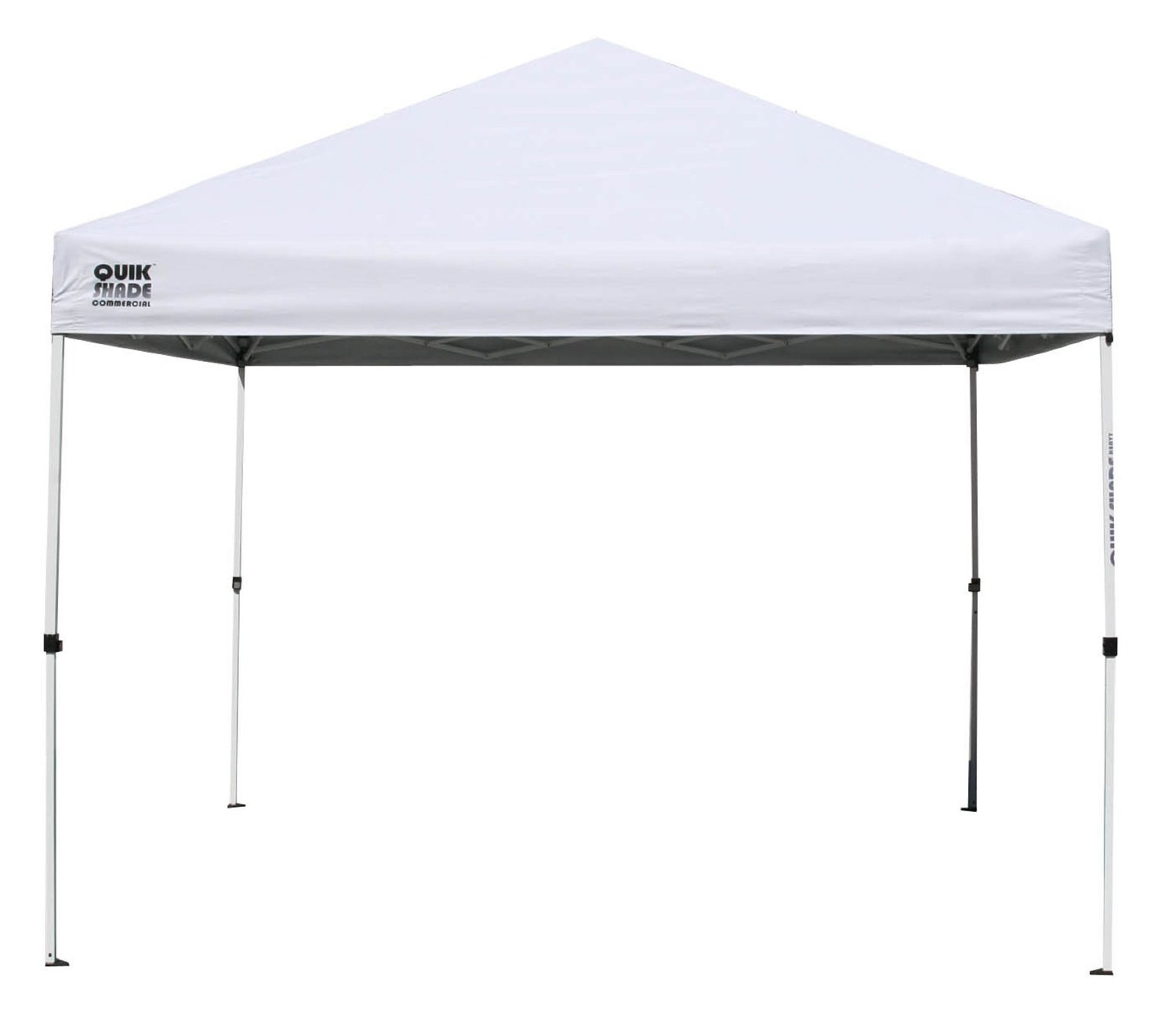 Quik Shade Commercial 100 with Full Wall Instant Canopy (White), 10 Feet X 10 Feet