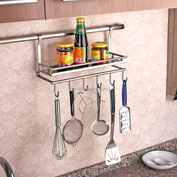 Amazing Wall Mounted Stainless Steel Kitchen Utensil Holder 334